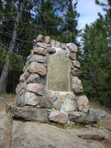 Tom Thomson Memorial Cairn